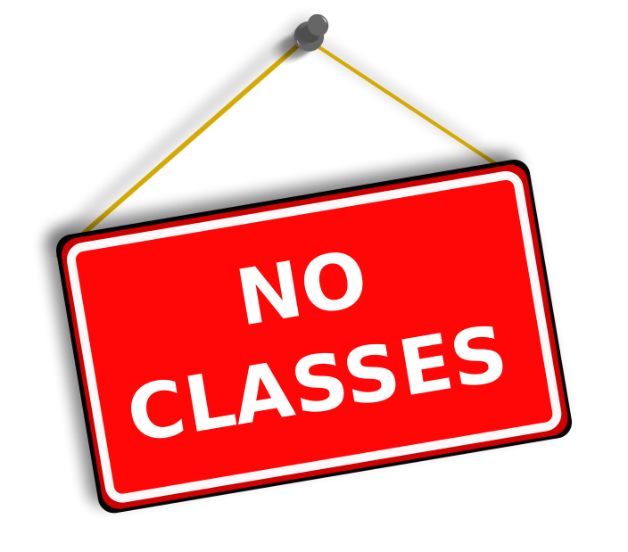 Image result for class cancelled sign