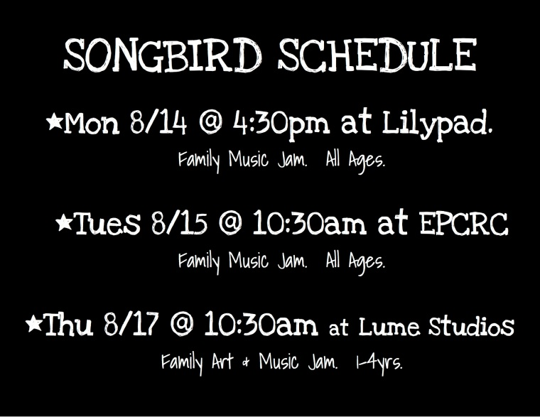 SONGBIRD SCHEDULE